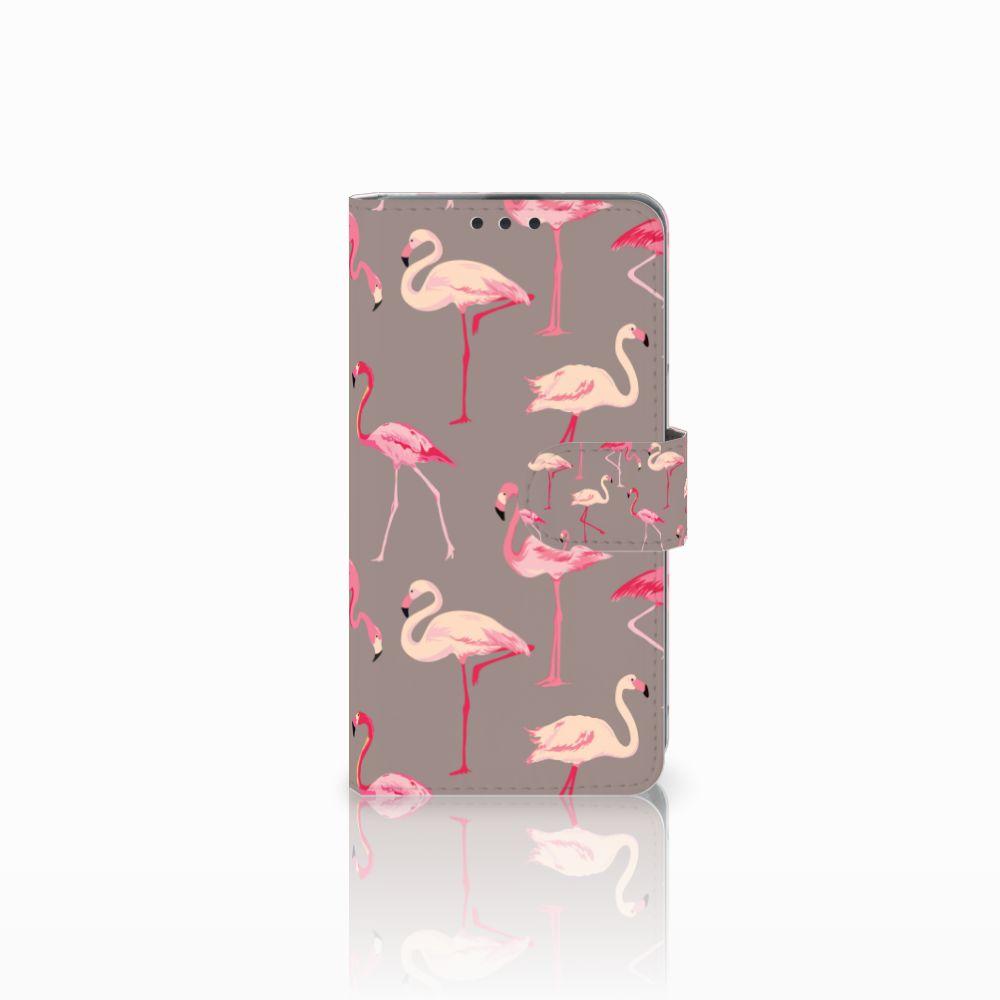 Microsoft Lumia 535 Uniek Boekhoesje Flamingo