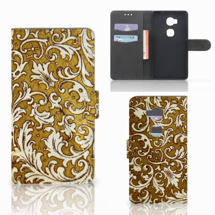 Wallet Case Huawei Honor 5X Barok Goud