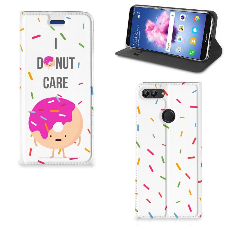 Huawei P Smart Flip Style Cover Donut Roze