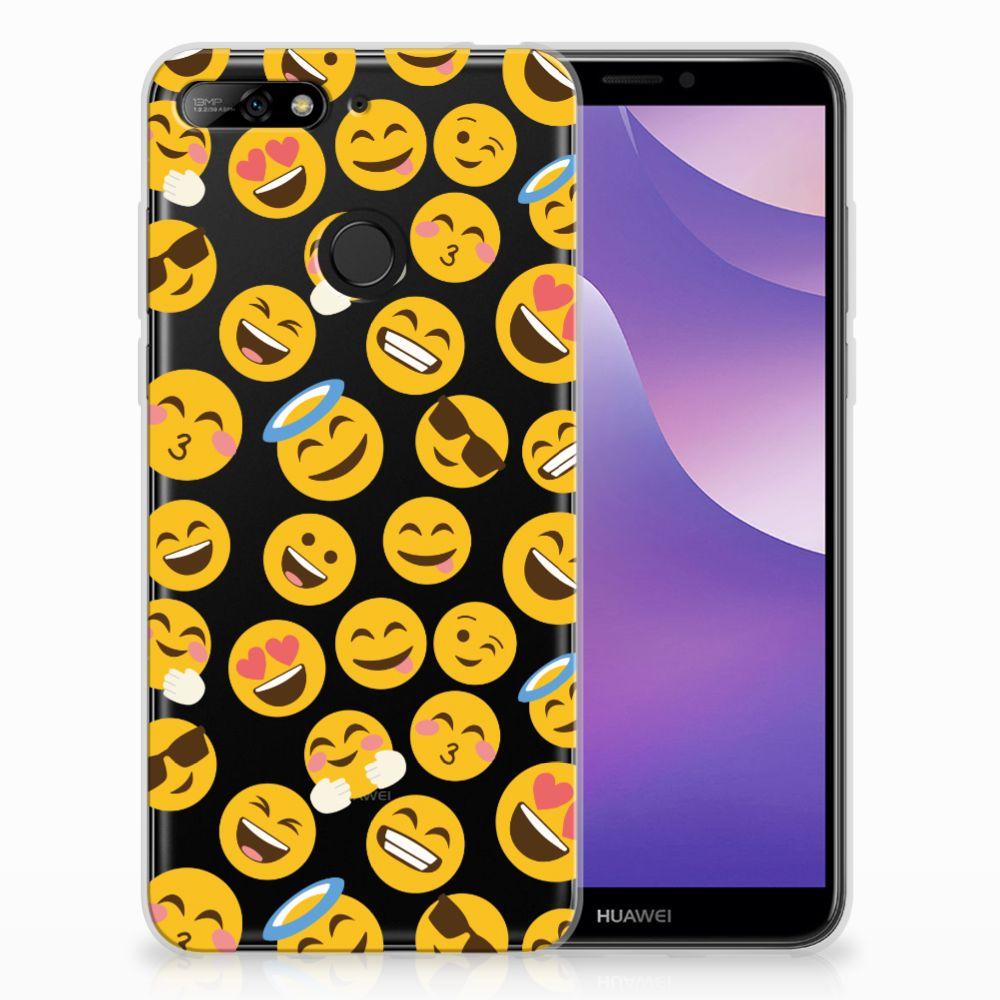 Huawei Y6 (2018) TPU Hoesje Design Emoji