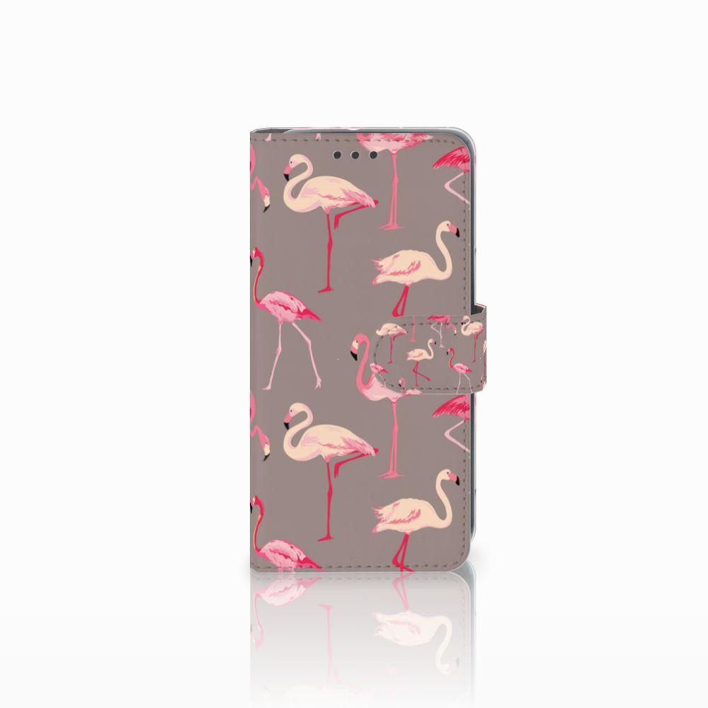 HTC U11 Life Uniek Boekhoesje Flamingo