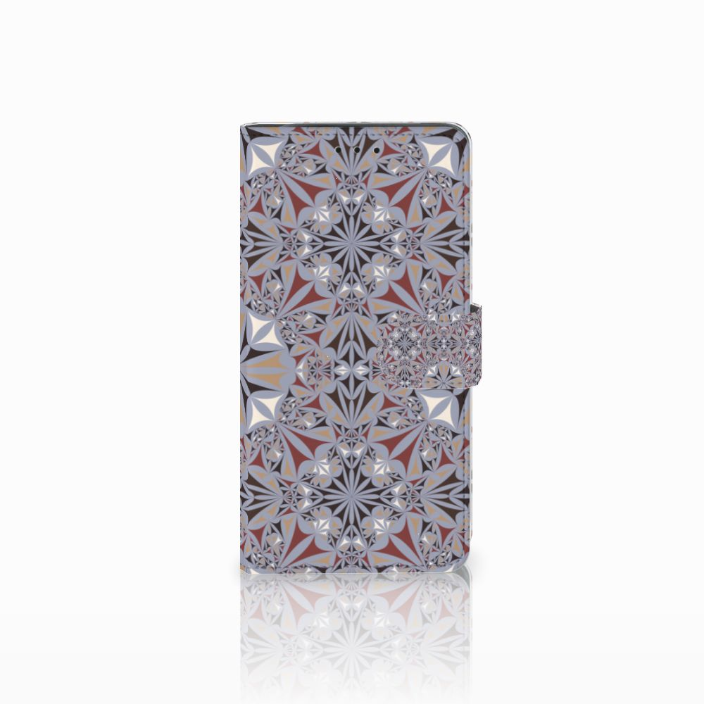 Samsung Galaxy J6 Plus (2018) Bookcase Flower Tiles