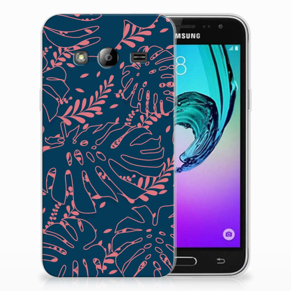 Samsung Galaxy J3 2016 TPU Hoesje Design Palm Leaves
