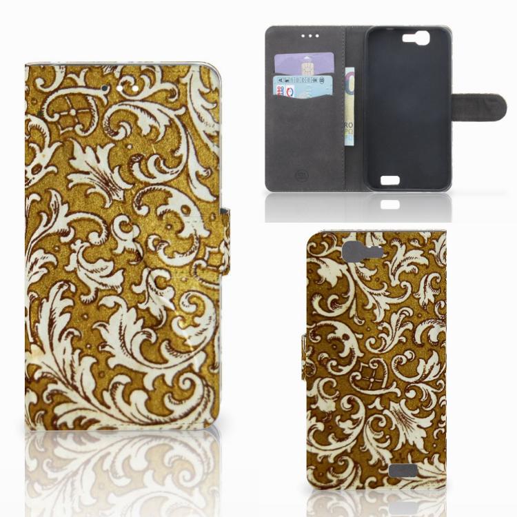 Wallet Case Huawei Ascend G7 Barok Goud