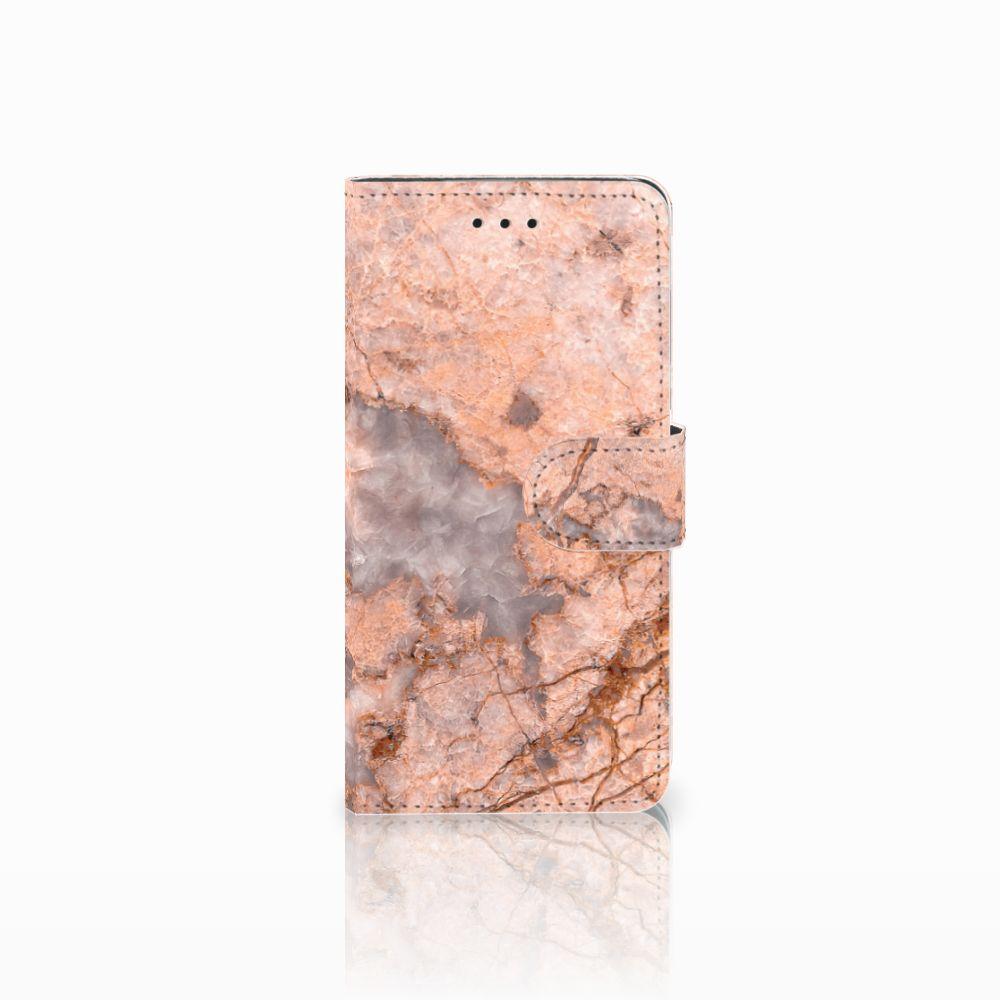 Huawei Y5 2018 Boekhoesje Design Marmer Oranje