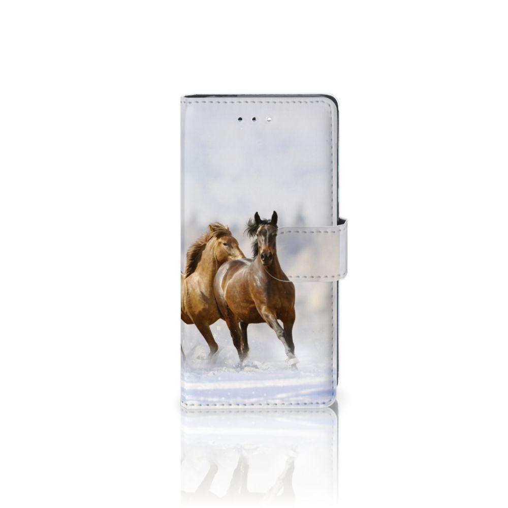 Huawei P9 Uniek Boekhoesje Paarden