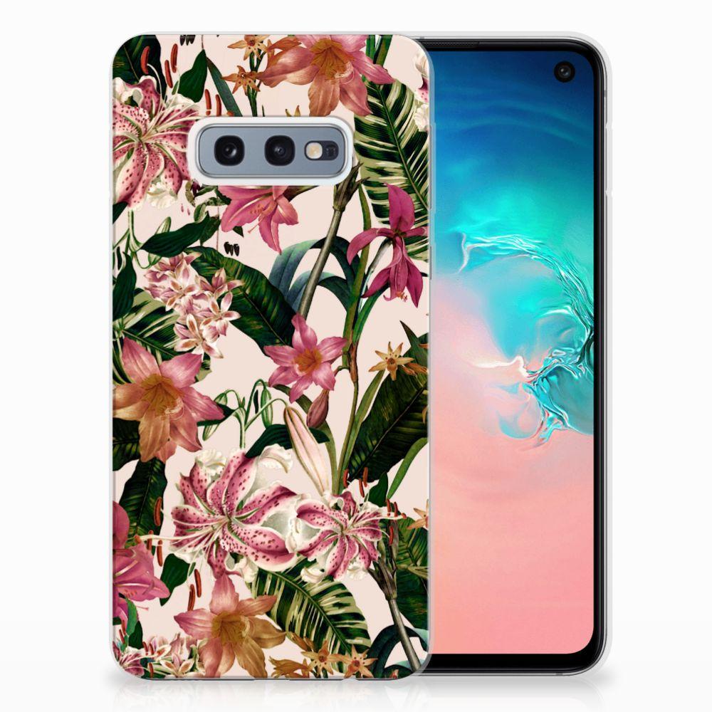 Samsung Galaxy S10e Uniek TPU Hoesje Flowers