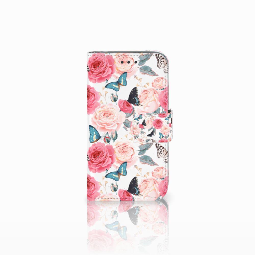 Samsung Galaxy Core Prime Uniek Boekhoesje Butterfly Roses