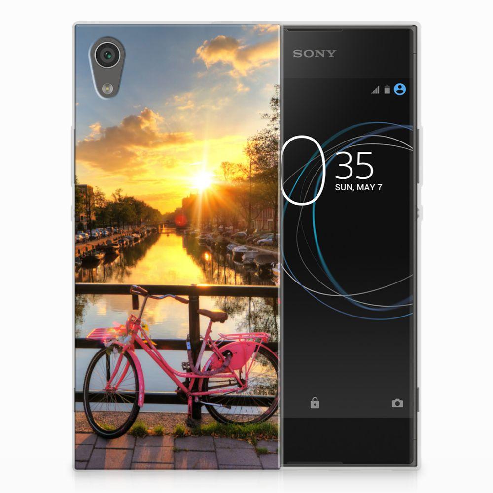 Sony Xperia XA1 Uniek TPU Hoesje Amsterdamse Grachten