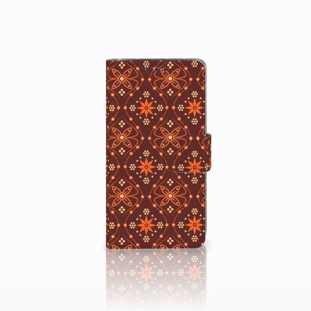 Samsung Galaxy J5 (2015) Uniek Boekhoesje Batik Brown
