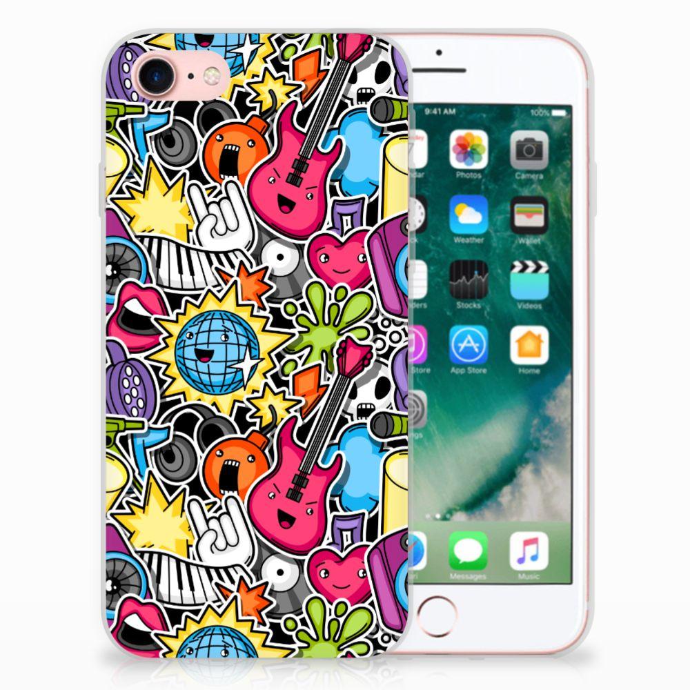 Apple iPhone 7 | 8 Uniek TPU Hoesje Punk Rock