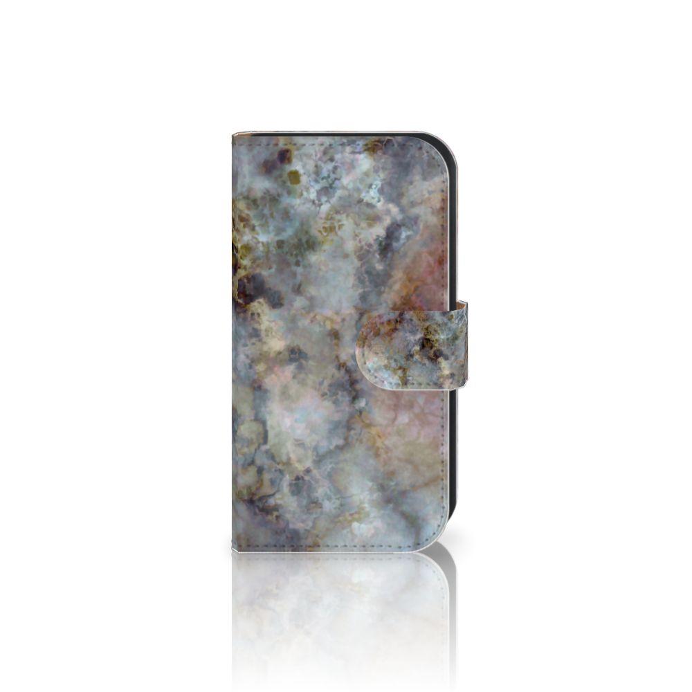 Samsung Galaxy Ace 4 4G (G357-FZ) Boekhoesje Design Marmer Grijs
