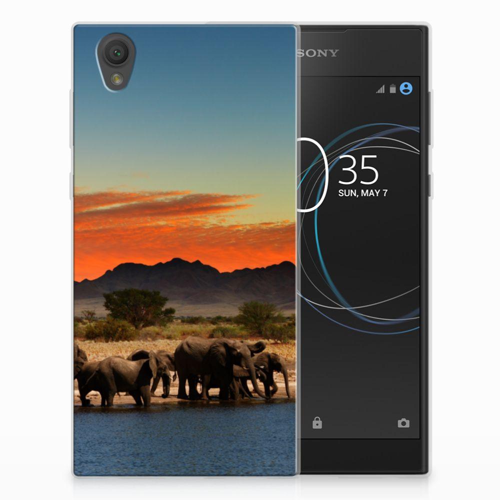 Sony Xperia L1 TPU Hoesje Design Olifanten