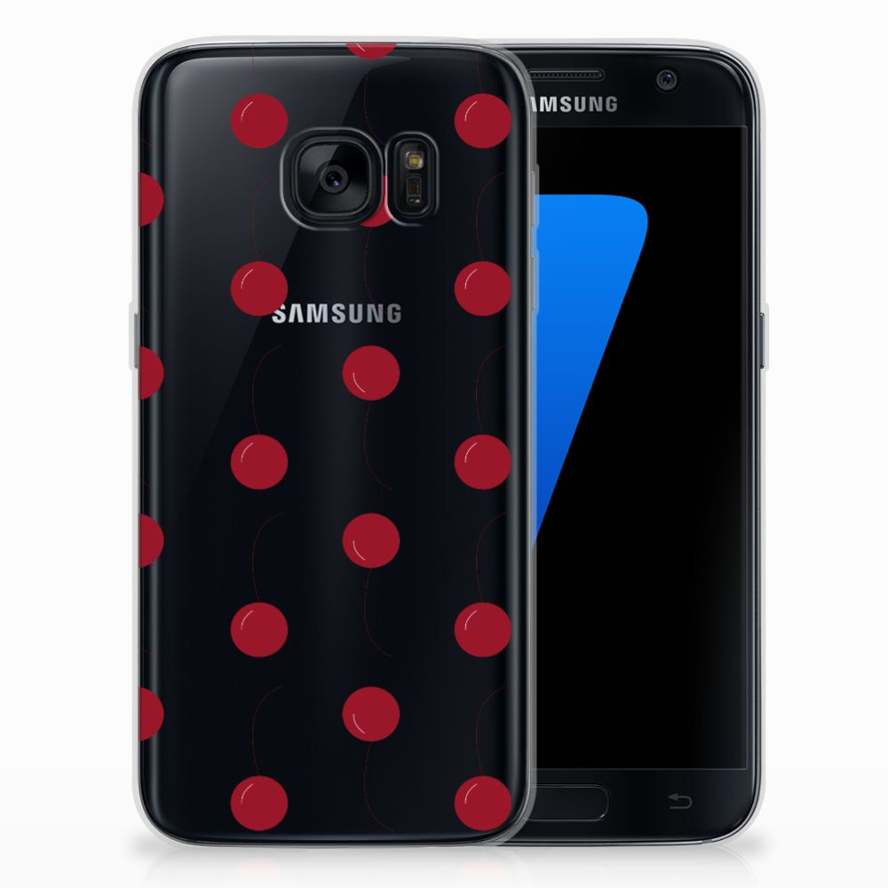 Samsung Galaxy S7 Siliconen Case Cherries