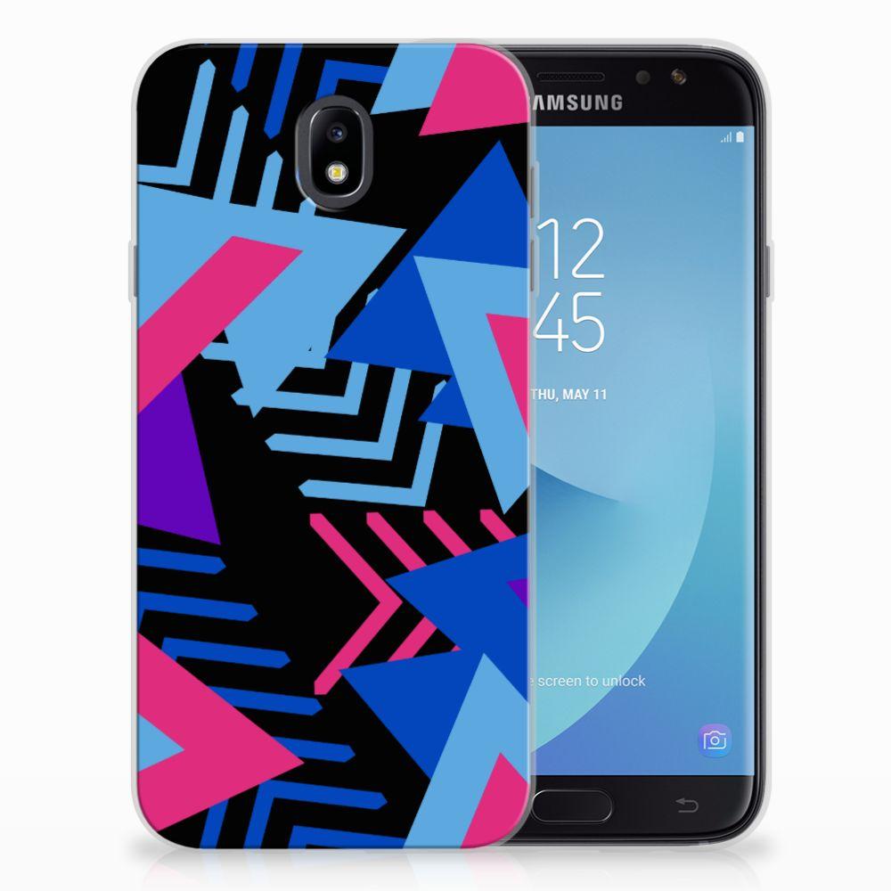 Samsung Galaxy J7 2017 | J7 Pro TPU Hoesje Funky Triangle