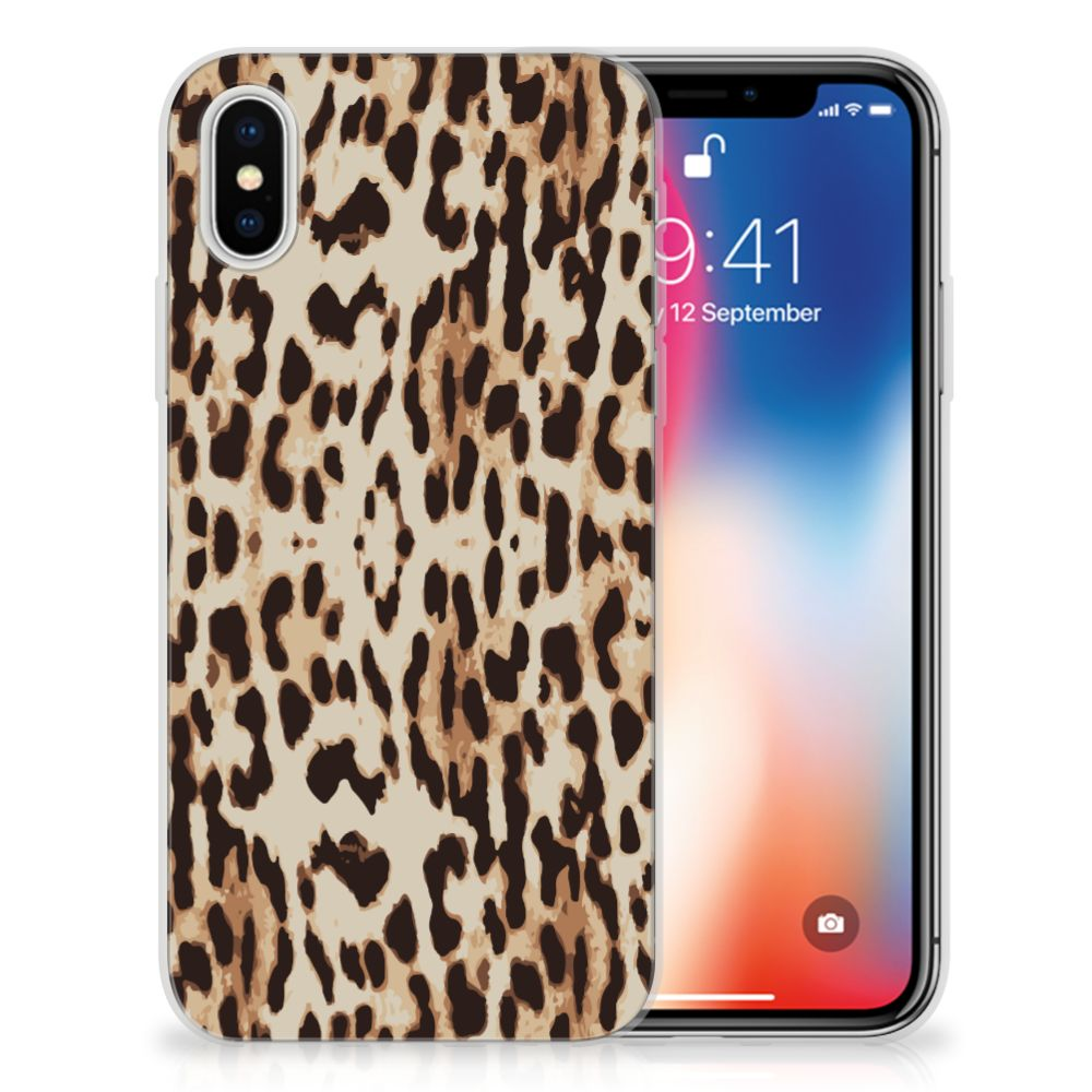 Apple iPhone X | Xs Uniek TPU Hoesje Leopard