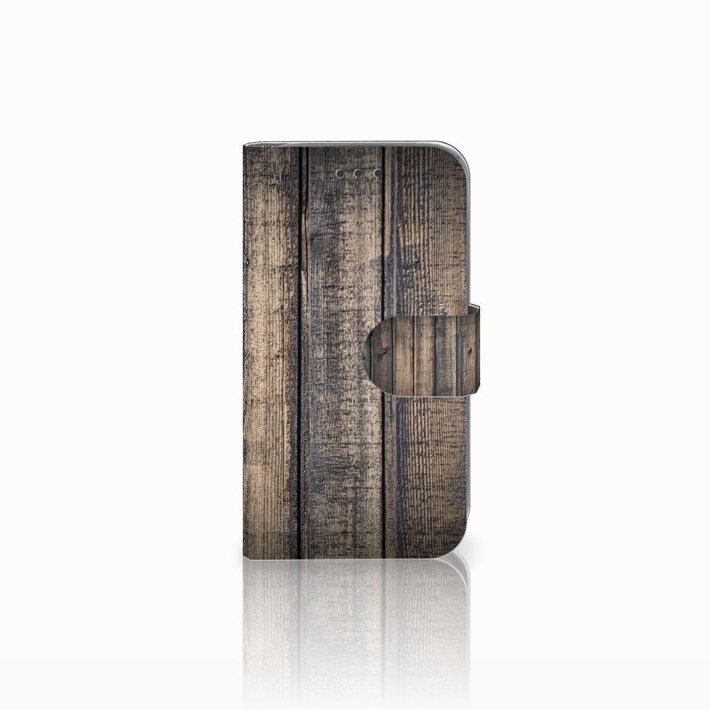 Samsung Galaxy Core Prime Boekhoesje Design Steigerhout