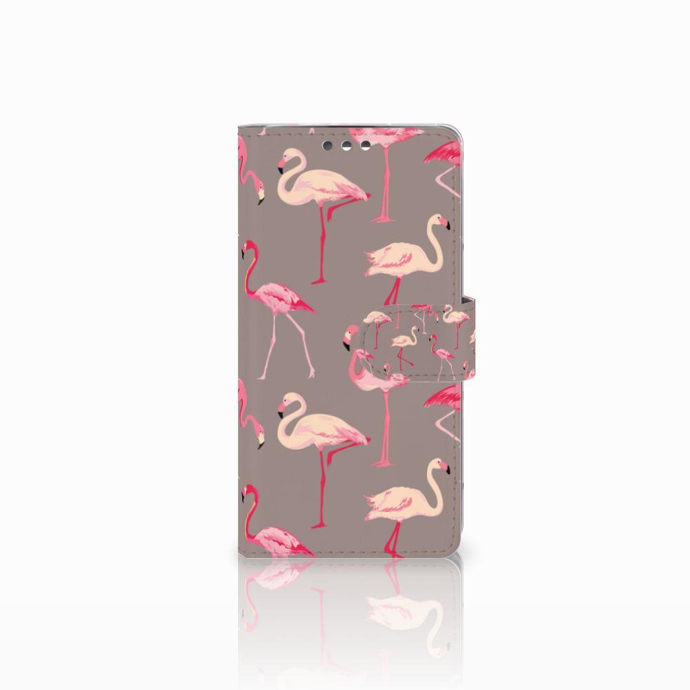 LG K8 Telefoonhoesje met Pasjes Flamingo