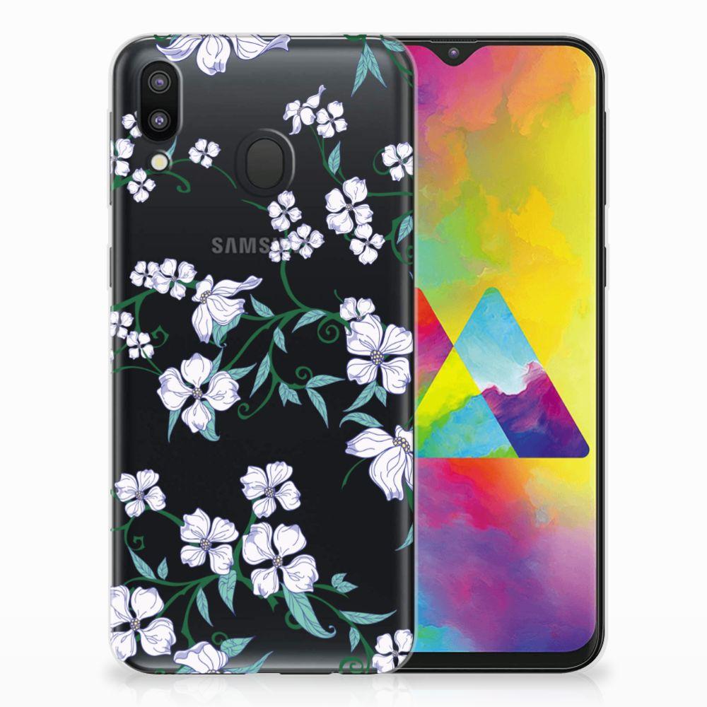 Samsung Galaxy M20 Uniek TPU Hoesje Blossom White