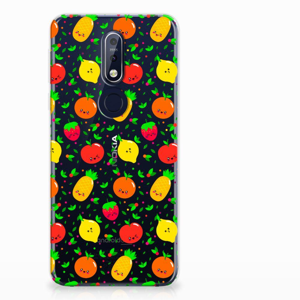 Nokia 7.1 Siliconen Case Fruits