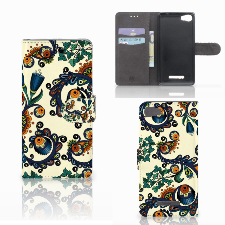 Wallet Case Wiko Lenny 2 Barok Flower