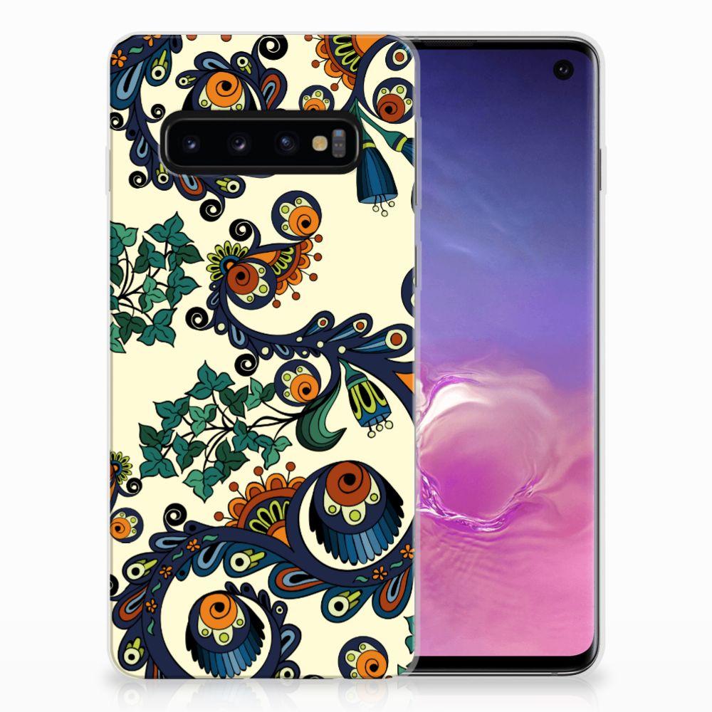 Siliconen Hoesje Samsung Galaxy S10 Barok Flower