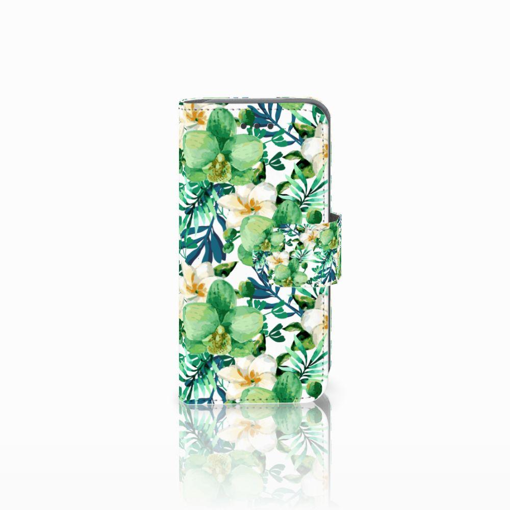 Apple iPod Touch 5 | 6 Uniek Boekhoesje Orchidee Groen
