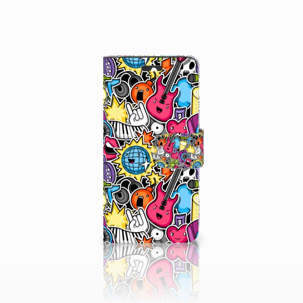 Huawei Ascend Y550 Uniek Boekhoesje Punk Rock