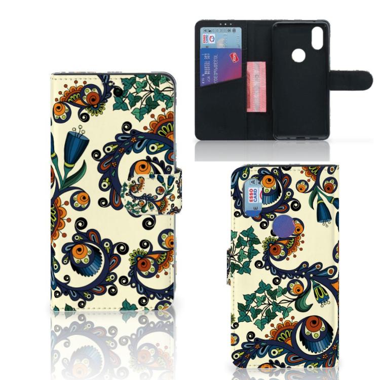 Wallet Case Xiaomi Mi Mix 2s Barok Flower