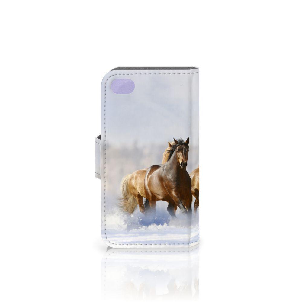 Apple iPhone 4 | 4S Telefoonhoesje met Pasjes Paarden