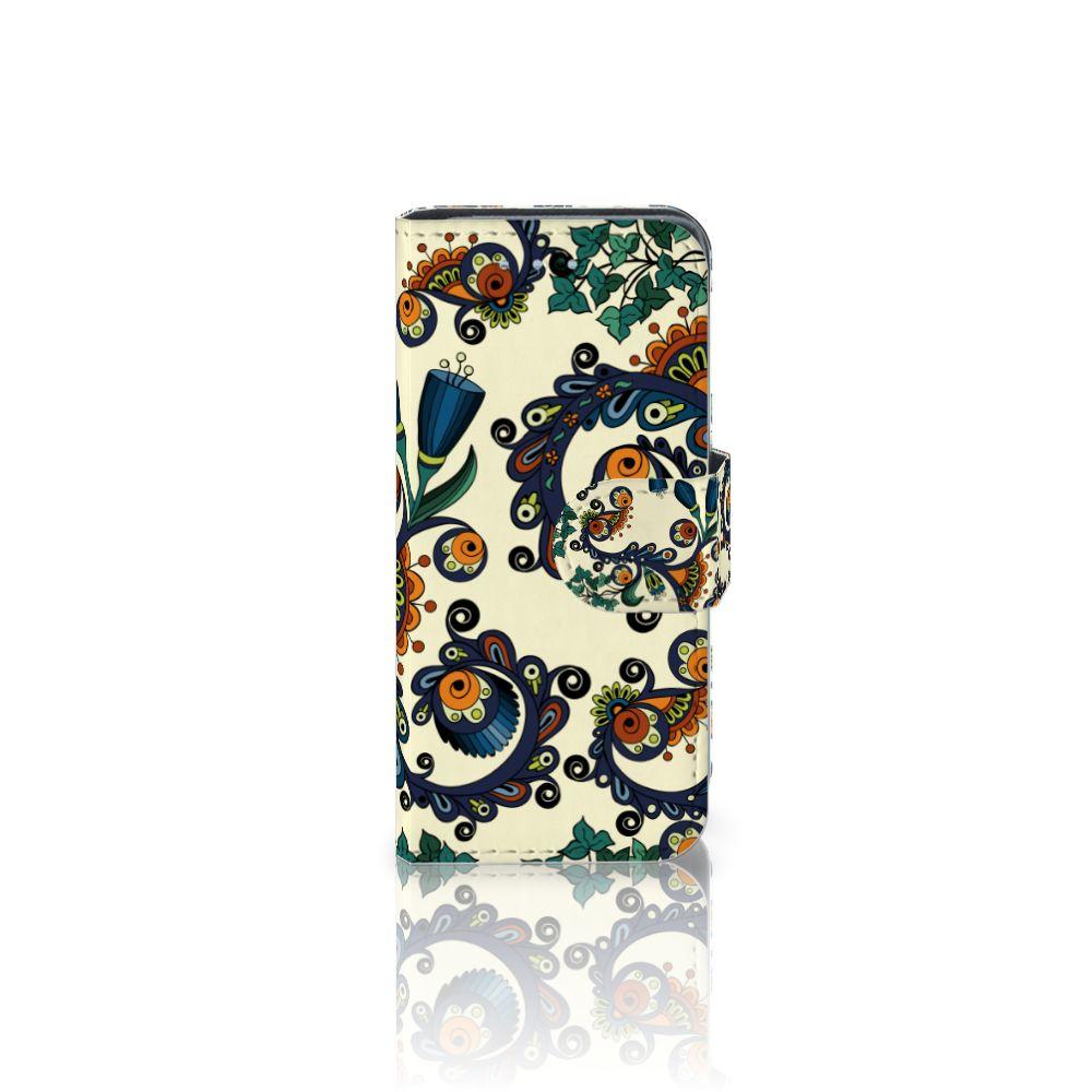 Samsung Galaxy S4 Mini i9190 Boekhoesje Design Barok Flower