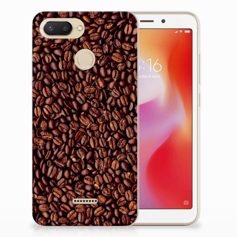 Xiaomi Redmi 6 Siliconen Case Koffiebonen