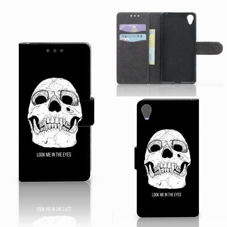 Telefoonhoesje met Naam Sony Xperia X Skull Eyes