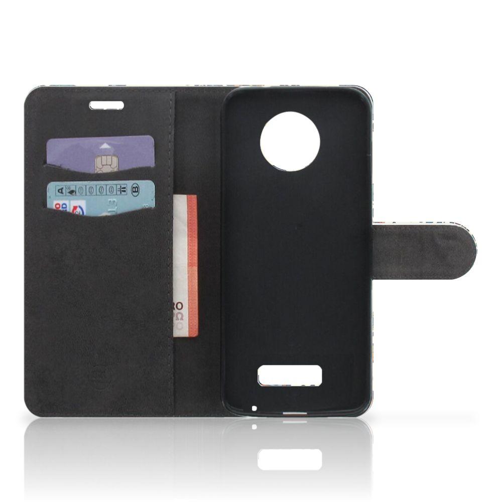 Wallet Case Motorola Moto Z Barok Flower