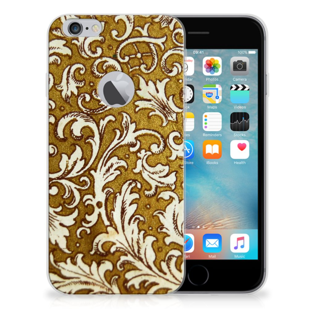 Siliconen Hoesje Apple iPhone 6 Plus | 6s Plus Barok Goud