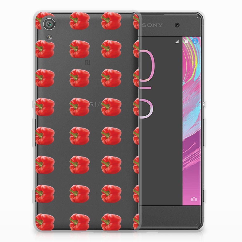 Sony Xperia XA | XA Dual Siliconen Case Paprika Red