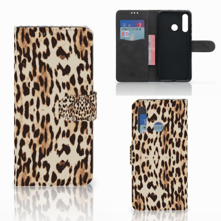 Huawei Nova 4 Telefoonhoesje met Pasjes Leopard