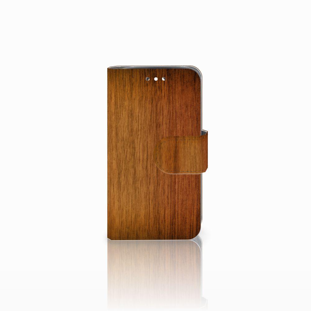 Huawei Y360 Uniek Boekhoesje Donker Hout