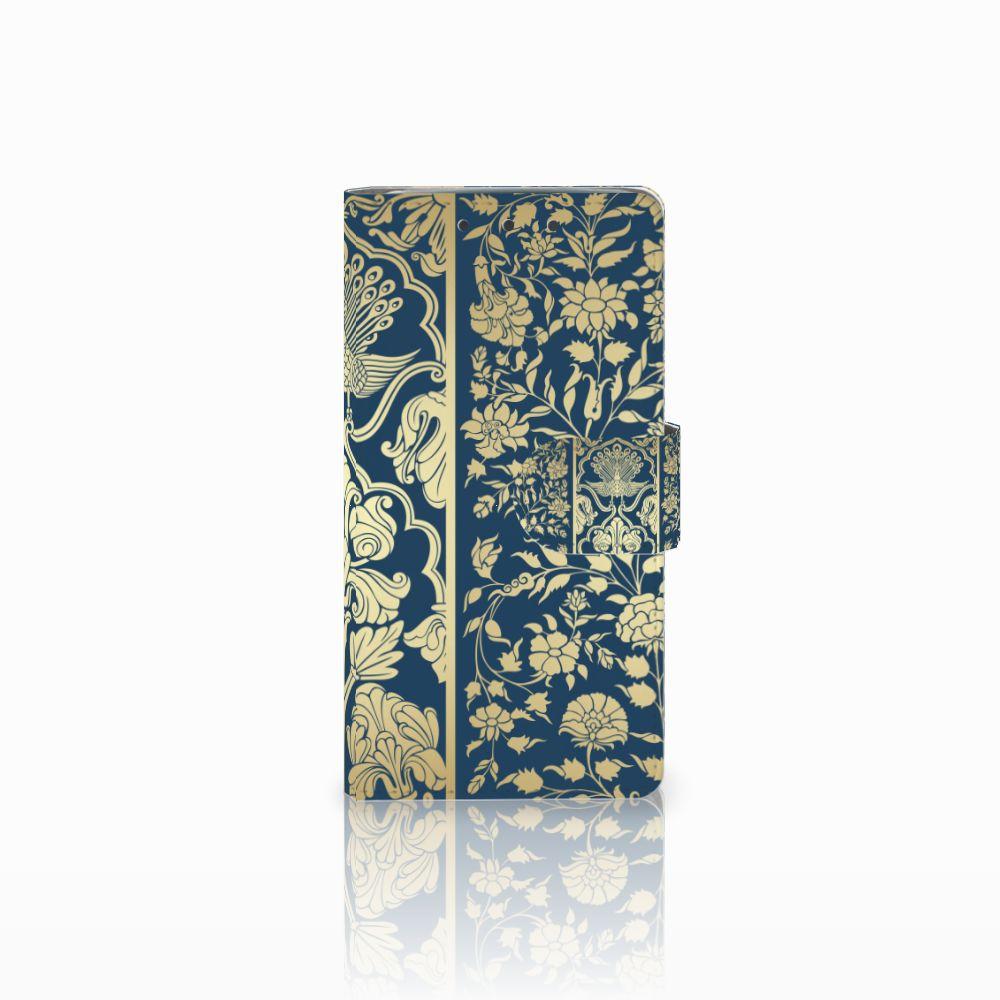 HTC One M7 Boekhoesje Golden Flowers