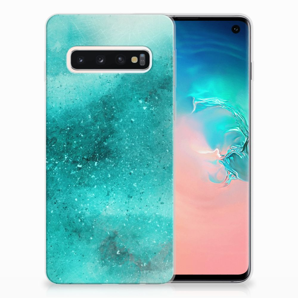 Samsung Galaxy S10 Uniek TPU Hoesje Painting Blue