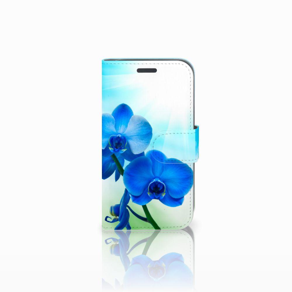 Samsung Galaxy J1 2016 Boekhoesje Design Orchidee Blauw