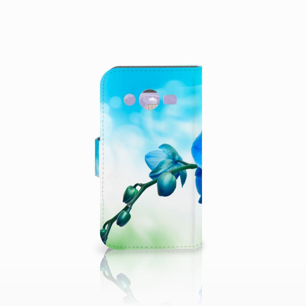 Samsung Galaxy Core 2 Hoesje Orchidee Blauw