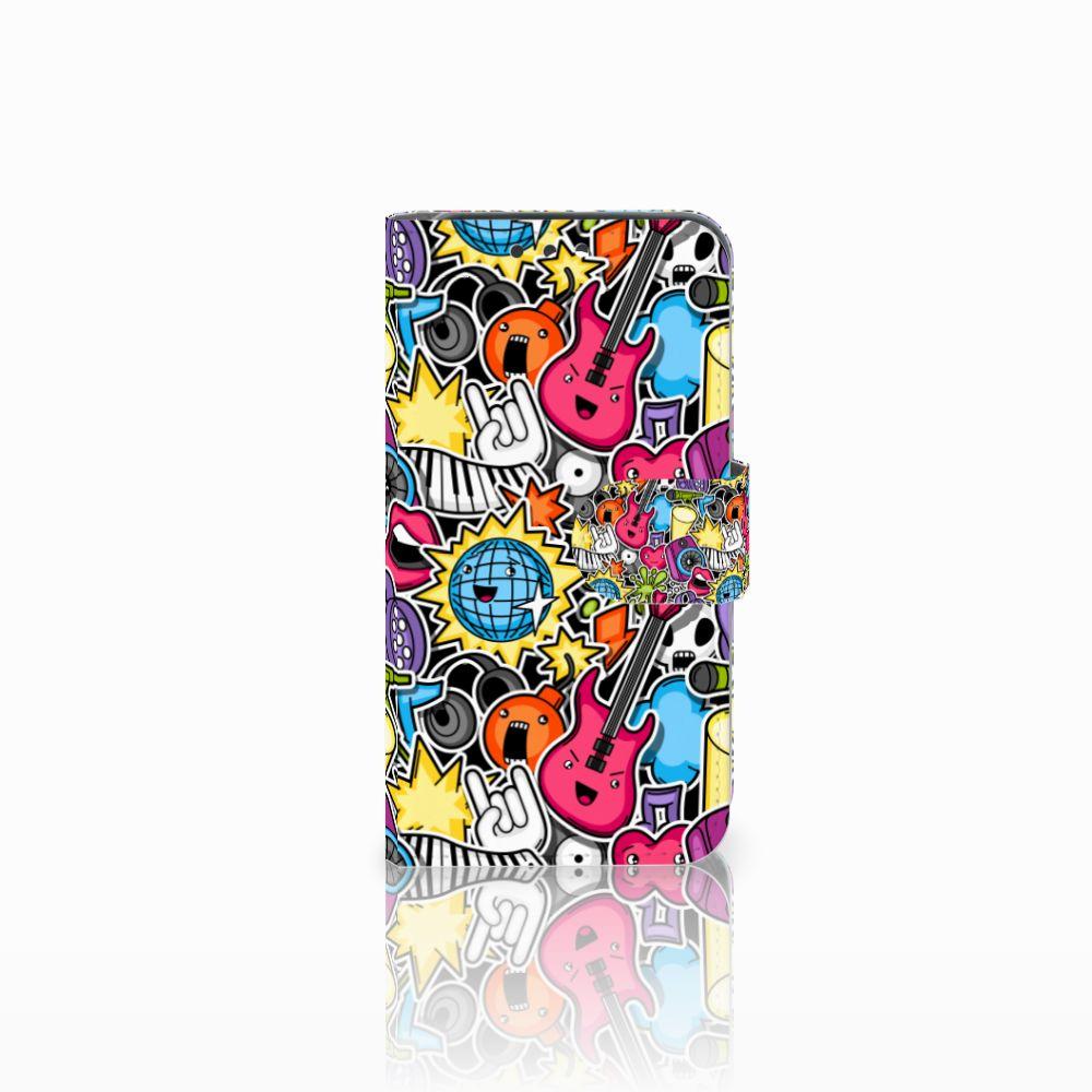 Huawei Y5 Y560 Uniek Boekhoesje Punk Rock