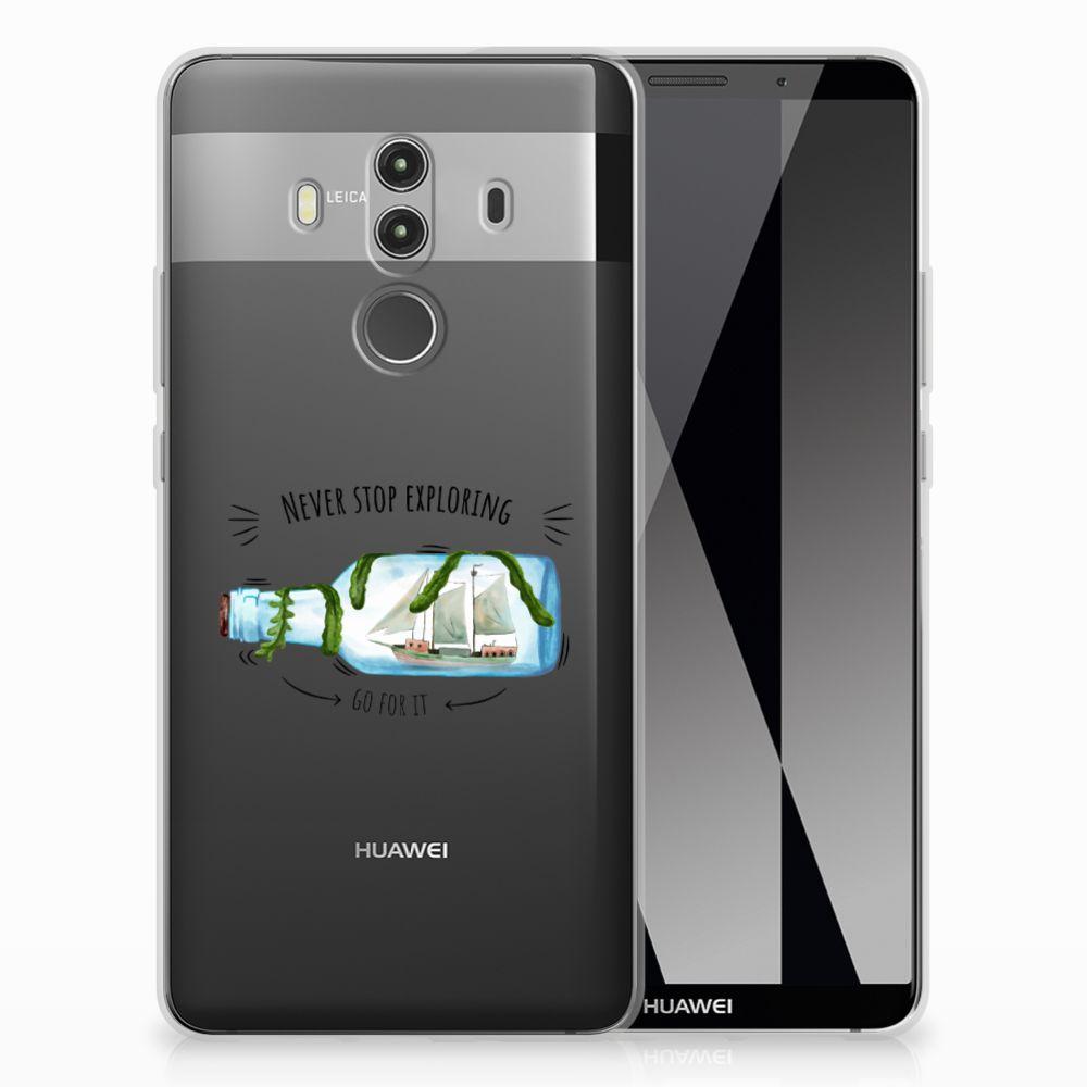 Huawei Mate 10 Pro Uniek TPU Hoesje Boho Bottle