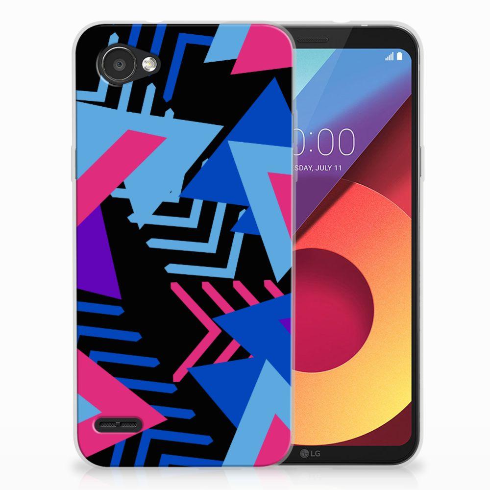 LG Q6   LG Q6 Plus TPU Hoesje Design Funky Triangle
