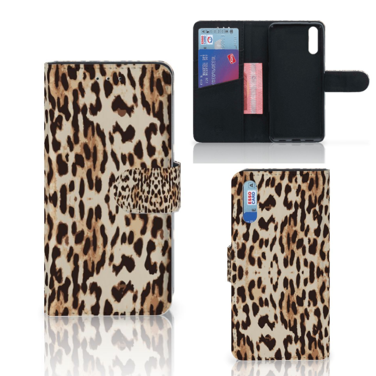 Huawei P20 Telefoonhoesje met Pasjes Leopard