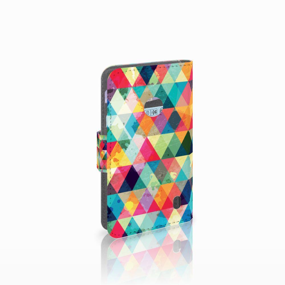 Nokia Lumia 520 Uniek Boekhoesje Geruit