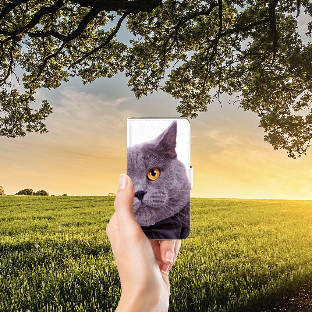 Google Pixel Telefoonhoesje met Pasjes Kat