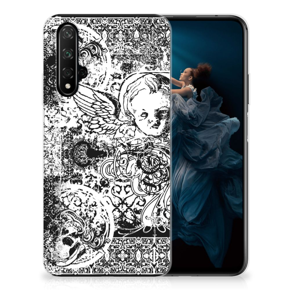 Silicone Back Case Honor 20 Skulls Angel