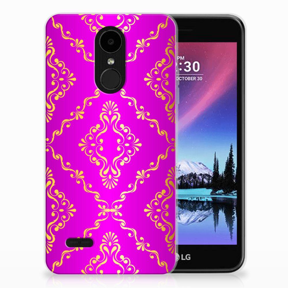 LG K4 (2017) Uniek TPU Hoesje Barok Roze